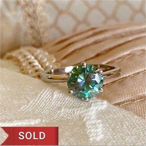 Independent Jeweler Jewelry - 2.30 Ct VVS1 Vivid Blue Moissanite Ring